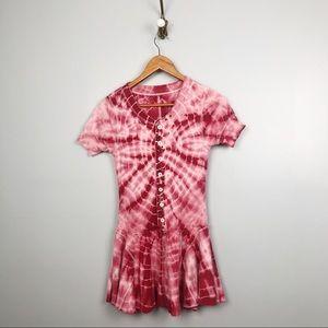 Free People | We The Free | Red Tie Dye Boho Dress